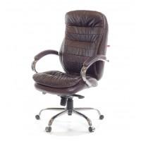 Кресло для руководителя Валенсия АКласс СН МB кожа коричневый
