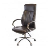 Кресло для руководителя Дрим АКласс СН ANF экокожа коричневое