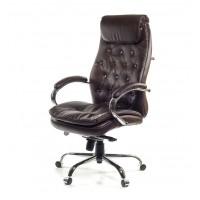 Кресло для руководителя Лацио АКласс Soft СН МB кожа коричневое