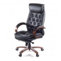 Кресло для руководителя Лацио АКласс ЕХ МB кожа чёрный