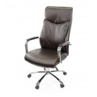 Кресло для руководителя Маккай АКласс СН ANF экокожа коричневый