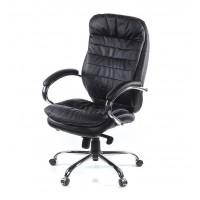 Кресло для руководителя Валенсия АКласс СН МB кожа чёрный