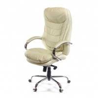 Кресло для руководителя Валенсия АКласс Soft СН МB кожа бежевый