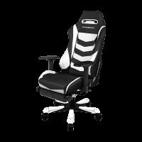 Кресло Dxracer IRON OH/IA166/NW с подножкой
