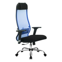 Кресло Metta комплект 18/2D CH синий