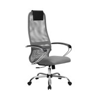 Кресло Metta BK-8 СН светло серый