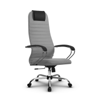 Кресло Мetta SU-BK-10 CH светло-серый / серый