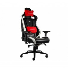Кресло офисное Noblechairs EPIC Real Leather Black/White/Red